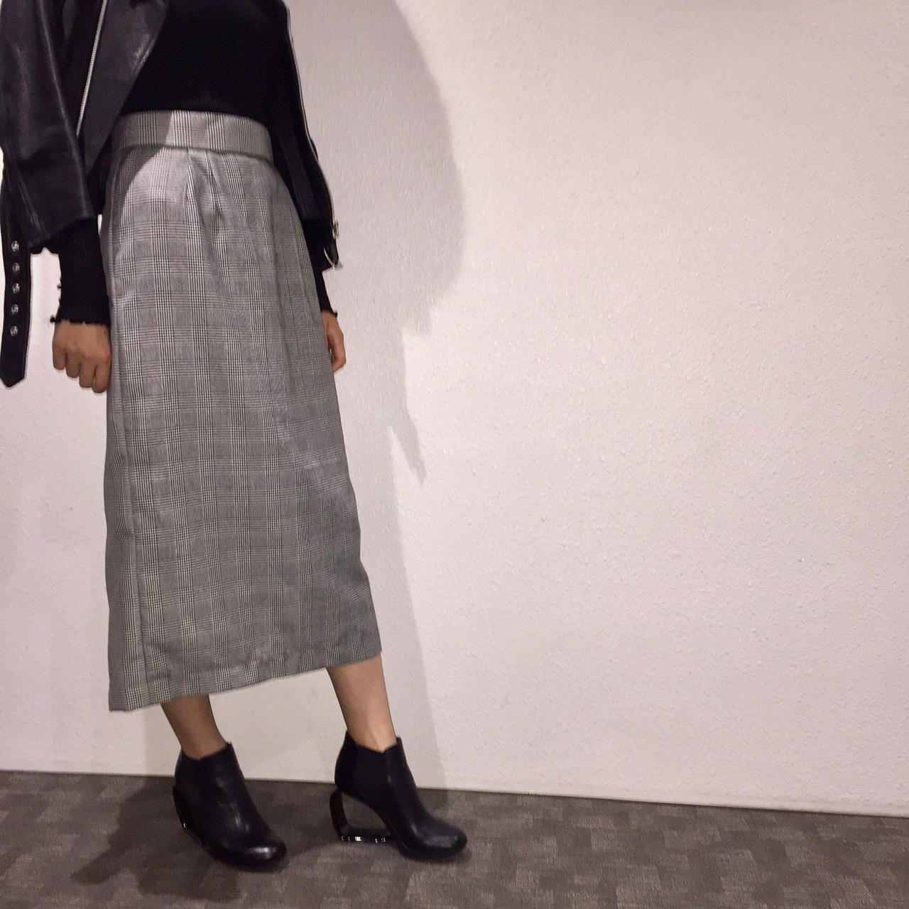 グレンチェックスカートのスカートをハンドメイド (スカート)