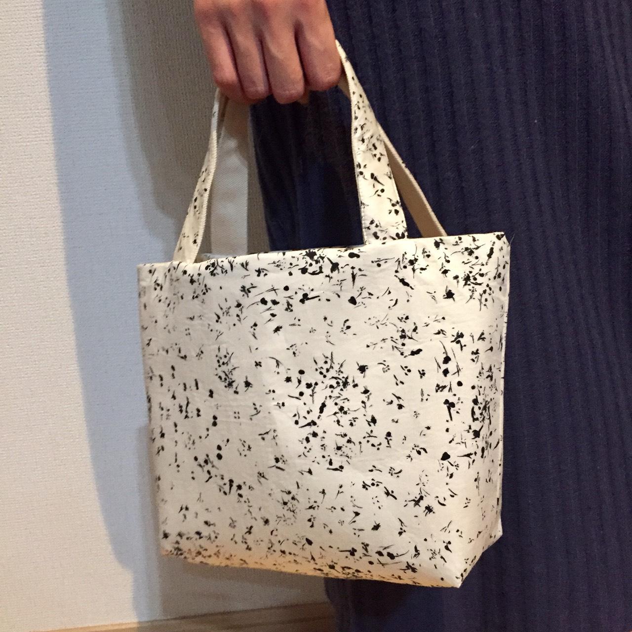 ミニトートバッグを簡単ハンドメイド (ハンドバッグ / かごバッグ)