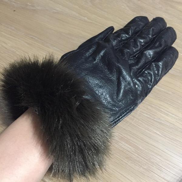300円で手袋をファー付きに簡単リメイク!