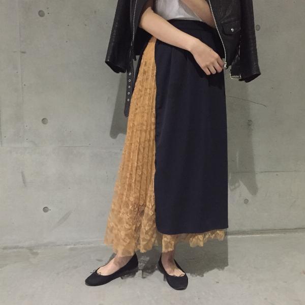 sacai風のスカートをGUスカートを使ってリメイク (スカート)